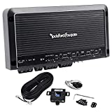 Rockford Fosgate R600X5 Prime Series 5-channel car amplifier -( 50 watts RMS x 4 at 4 ohms ) + 300 watts RMS x 1 at 2 ohms Amplifier + Completed Amp Kit + RCA's
