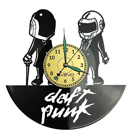 Reloj de pared Daft Punk de vinilo retro reloj grande reloj estilo habitación decoración hogar gran regalo para amigo hombre vinilo Record Kovides vinilo decoración hogar sala inspiradora pared