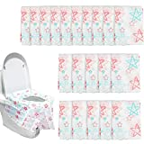 Dadabig 20 Stück Toilette Auflage, Einweg Toiletten Sitzbezug Rutschfeste Wasserdichte Leichte Handliche Einweg Toilettenpapier Babys schwange Mütter für Toilette Einkaufszentren Büro