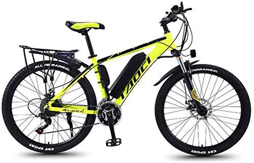 Bicicleta, 26'Bicicleta eléctrica para Adultos, Bicicleta de montaña de 350W, batería de Iones de Litio de Gran Capacidad (36V 10AH), medidor LCD, 27 velocidades Profesionales E-Bicicleta MTB para ho