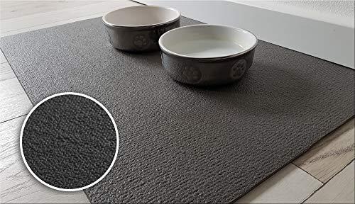 Sanosoft SanoZoo Napfunterlage - Öko-TEX - Made in Germany - Futtermatte für Hunde & Katzen (30 x 40 cm, Schwarz)