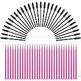 Eyelash Extension Supplies, 100PCS Micro Applicators Brushes and 50PCS Disposable Eyelash Brushes, Mascara Wands Eyebrow Applicator for Cleaning and Cosmetic Make Up Brush Tool Kits