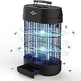 VIFLYKOO Lámpara Antimosquitos,12W UV Lámpara Repelente de Mosquitos Destructora de Insectos eléctrica Sin químicos tóxicos,Trampas para Insectos Matamoscas Area efectiva 60㎡ para Interior