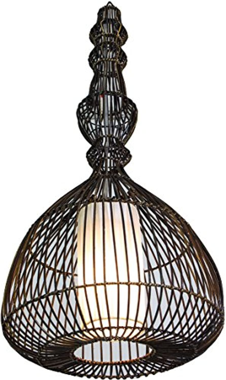 Guru-Shop Deckenlampe Deckenleuchte, Caramba - in Bali Handgemacht aus Naturmaterial, Rattan, 75x35x35 cm, Dekolampe Stimmungsleuchte