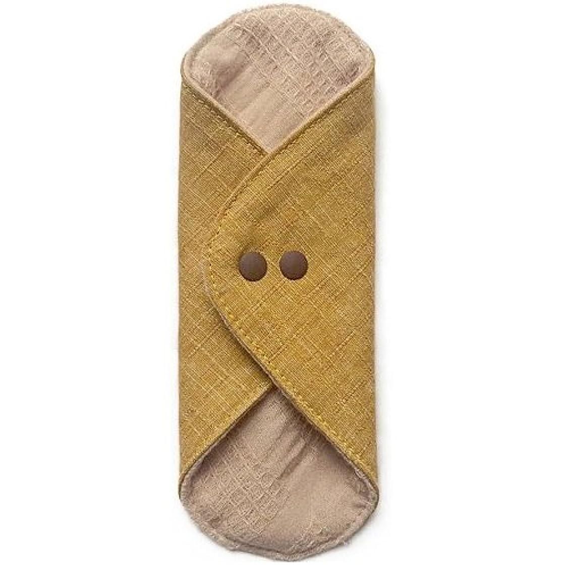 酸化物補助金キッチン華布のオーガニックコットンのあたため布 Mサイズ(約15×約15cm) 彩り(山吹)