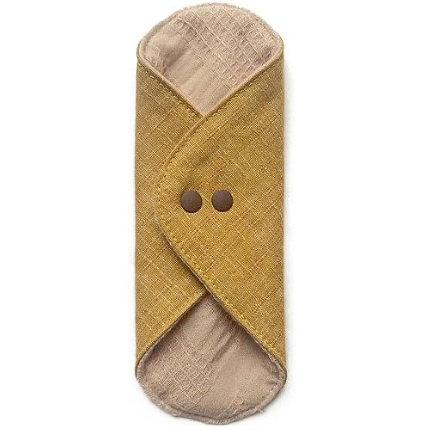 地下祈り行き当たりばったり華布のオーガニックコットンのあたため布 Mサイズ(約15×約15cm) 彩り(山吹)