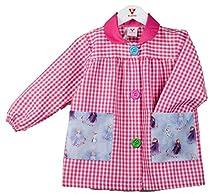 KLOTTZ FROZEN - Babi guardería con bolsillos de tela Frozen de la marca Bata colegio y comedores niños Niñas color: FUCSIA talla: 5