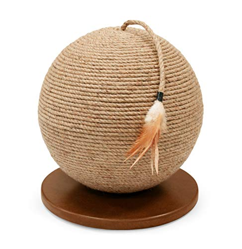 Prevue Pet Products Kitty Power Paws Sphere with Tassel Toy, Natural