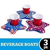 BigMouth Inc Inflable Patriotic Stars Beverage Boats 3pk