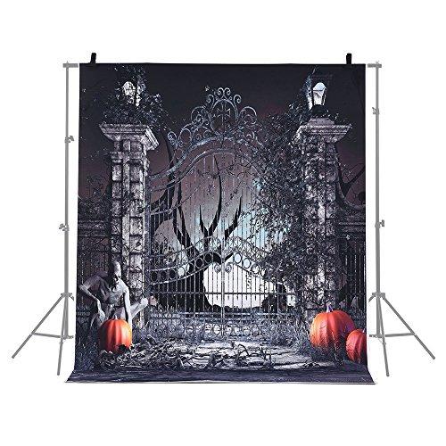 Andoer 6.9 * 5ft/2.1 * 1.5m Telón de Fondo de Halloween Fotografía Decoración de Fondo Patrón de Calabaza para Cámara Photo Studio