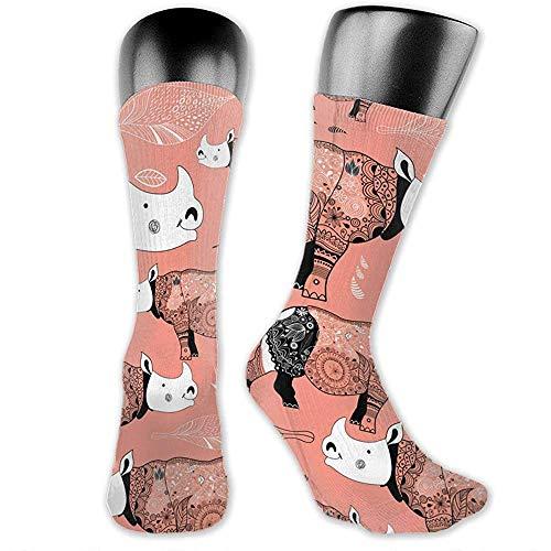 lucies Calze sportive per uomo Donna Stok Vektor Calze con motivo a rhinos fantasia 30 cm