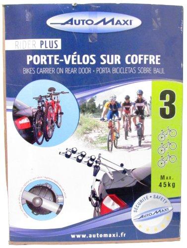 Montblanc 205500 Portabici da Portellone Rider Plus, 3 Bici, Nero