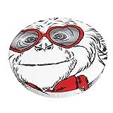 WALL-8-CC - Funda de cojín de poliéster con gafas y corbata, diseño de mono