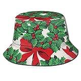 Sombrero de Cubo Sombrero de Cubo Unisex Gorra de Pescador de Borde Ancho Sombrero de Pescador de Verano Sombrero de Sol Empacable Moda Impresión de Navidad Chicos de Navidad