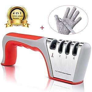 51BOrXNN3NL. SS300  - Tintec Afilador de Cuchillos, Afilador Cuchillos Profesional con 4 Ranuras para Cuchillos de Cocina Afilador Manual para…