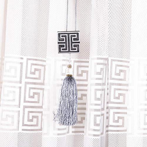 HNLHLY Gordijn koord kwast gordijnen hangen bal gebonden bal nieuwe Chinese gordijn gesp ring hangen bal haak bal ophangen spike paar