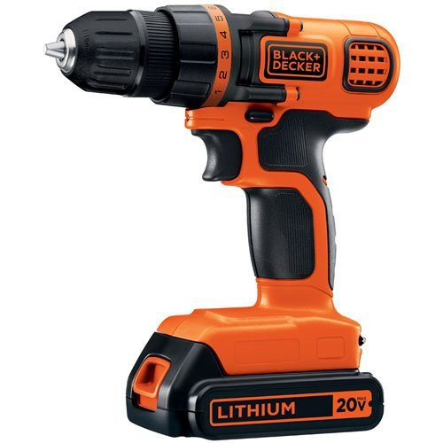 "Black & Decker LDX120C 20V Li-Ion 3/8"" Cordless Drill/Driver  $30 at Amazon"