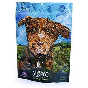 Gibson's Farmer's Bacon – Human Grade USA Soft Jerky Dog Treats, 3 oz