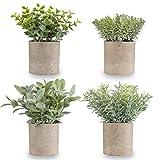 Miracliy Mini Potted Fake Plants...