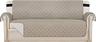 "Best Reversible Sofa Slipcover Quilted Furniture Protector with 2"" Elastic Strap Water Resistant Sofa Covers Seat Width Up to 66"" Slipcover Protect from Dogs (Sofa, Khaki/Beige) Review"
