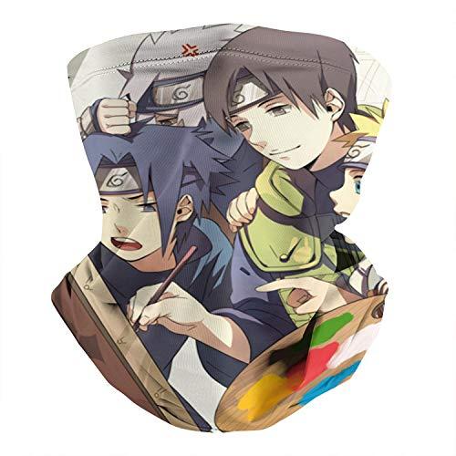 Uchiha-Sasuke-Naruto-Class-VII- Multifunctional Neck Gaiter Face Mask Half Mask Scarf Neck Warmer for Cycling Outdoor