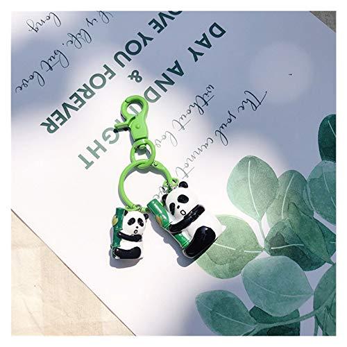 Llavero Regalos Llavero clásico Lindo Negro-y-Blanco del Bolso del Coche del Ornamento Colgante Creativas Pequeño Turismo Pulsera del Encanto (Color : Panda Hug Bamboo)