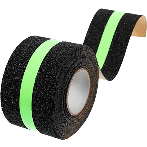 Adkwse Anti-slip tape Glow in Dark Veiligheid plakband voor trappen 50 mm rol met 8 m griptape