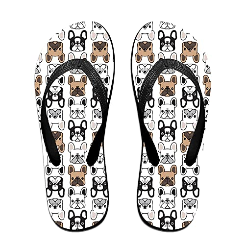 wanglai Women's & Men's Flip Flop Slippers French Bulldog (2) Adults Classical Summer Sandal Shoes