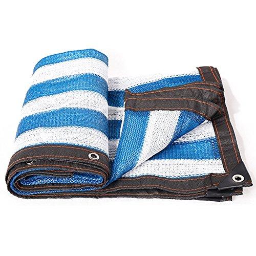 SSRS El sombreado Neto Raya Azul y Blanca Espesa la Sombrilla Neto for Patio Muelle, 18 Tamaños portátil, Duradero (Color : Blue, Size : 2X6M)