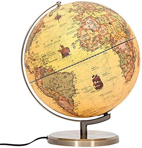 Lámpara de Globo del Mundo Iluminado - Tamaño más Grande 12.6'Globos geográficos -2 en 1 con luz LED Globo Educativo de Escritorio Mundo - Juguete de Aprendizaje de geografía