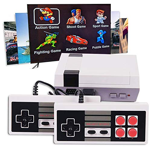 KDRose Classic Handheld Game Console, 1080P HD Built-in 621 Classic Games and 2 NES Classic Controller HDMI Output Video Games, is a Choice for Children and Adults