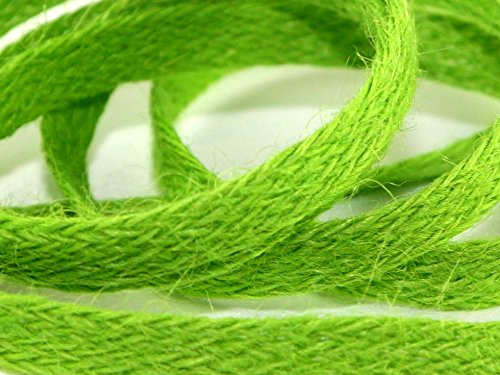 Vert pomme tissé de qualité ruban en toile de jute 10 mm x 25 m Par rouleau