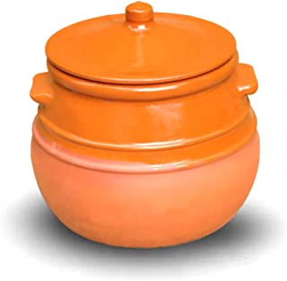 Cazuela de cerámica/olla de barro (para guisos) 3,5 litros 22 cm de diámetro x 23 cm alto