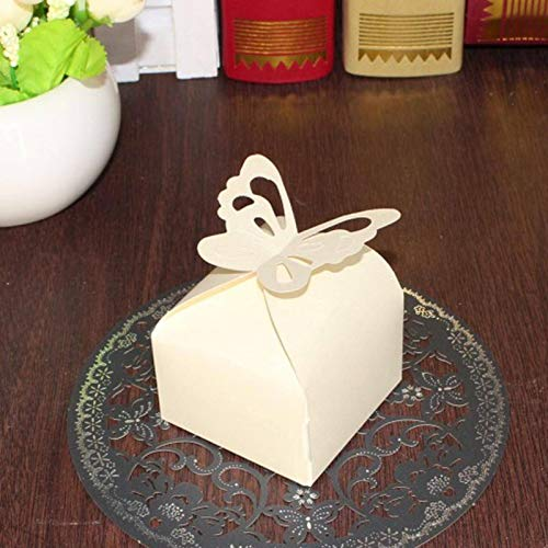 N-B 10pcs Laser Cut Butterfly Boxes Folding DIY Candy Box Baby Shower Favor Box Wedding Birthday Party