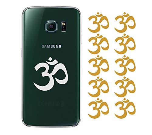 10 x Om Zeichen Ohm Aufkleber Autoaufkleber Smartphone 5cm spirituell Yoga in 33 Farben matt oder glänzend