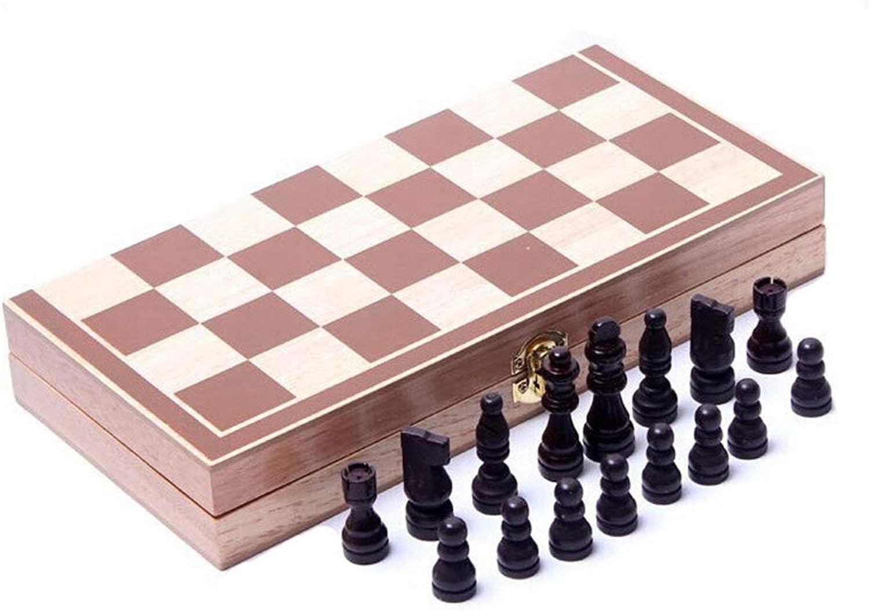 Folding Wooden International Chess Set Board Game Funny Game Sports Entertainment Handmade International Chess Set 30  30CM