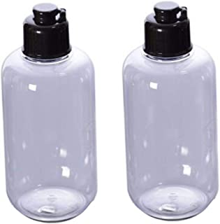 VASANA 100ml/3.4oz Empty Refill Plastic Squeeze Bottles with Black Flip Cap Cosmetic Makeup Essential Oil Water Shampoo Sh...