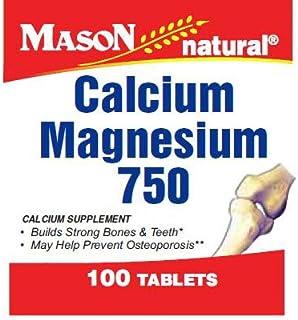 Mason Natural Calcium and Magnesium 750, Bone Supplement Tablets - 100