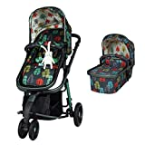 Cosatto Giggle 3 Pram & Pushchair – From Birth to 18kg, Lightweight, Compact, Flat-Fold (Hare Wood)
