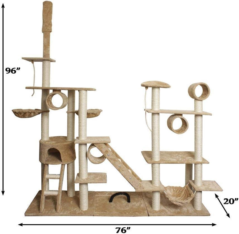 Dixinla Cat climbing frame Large cat tree All sisal pillars environmental predection Pet supplies 190  50  240cm Plush