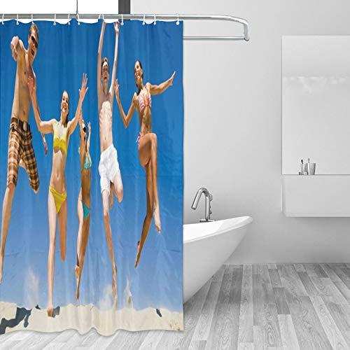 Diseño de Cortina de Ducha Personalizado Tela de Cortina Impermeable para decoración de baño Tamaño 72x72in - Regalo Personalizado