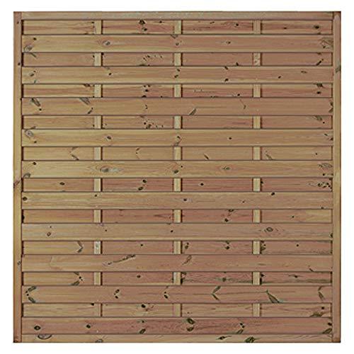 MEIN GARTEN VERSAND Preiswerter Sichtschutz Gartenzaun Maß 180 x 180 cm (Breite x Höhe) aus Kiefer/Fichte Holz, druckimprägniert Berlin Massiv