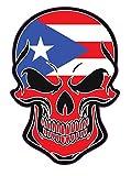 WickedGoodz Puerto Rican Flag Skull Vinyl Decal - Puerto Rico Bumper Sticker - Proud Puerto Rico Sticker