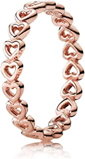PANDORA Jewelry - Band of Hearts Ring for Women in PANDORA Rose and Sterling Silver with No Stone