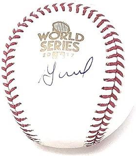 Jose Altuve Houston Astros Signed Autograph Official World Series MLB Baseball Steiner Sports Certiifed