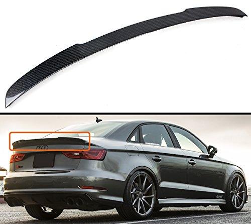 Cuztom Tuning Duckbill Highkick Carbon Fiber Trunk Lid Spoiler Wing Compatible for 2014-2019 Audi A3 S3 RS3 Sedan