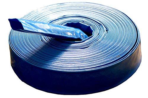 Manguera plana de PVC – Manguera industrial – Seguridad 3:1 – Azul – Diámetro interior: 100 mm | 4 pulgadas | Longitud: 10 m