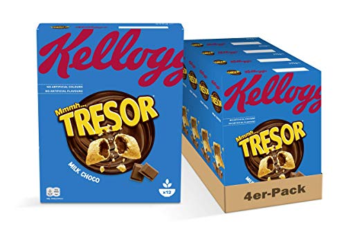 Kellogg's Tresor Milk Chocolate Ceralien | 4er Vorratspack | 4 x 375g