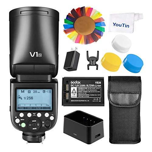 Godox V1N TTL - Kit de Flash Redondo para Nikon - 2,4 G HSS