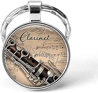 DADATU Llavero Instrumento Musical Clarinete Guitarra Flauta ...